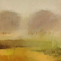 You stand back from this and you find that you have walked through the trees and to the edge of the horizon...the art of impressionism, to look and imagine the rest of it yourself depending on where the light would fall in your mind's eye...  Irma Cerese - Yellow abstract landscape