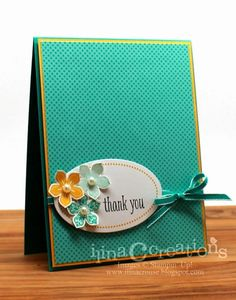 Stampin' Up! Thank You with Petite petals