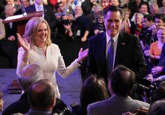 Ann and Mitt Romney   Ann Romney - GOP Presidential Front Runner Mitt Romney Holds Primary ...