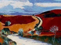 Artwork >> Sancelme Marie-Noelle >> Sunlit path  #artworks, #nature, #paining, #masterpiece, #path