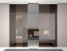 Home Design Decor, Home Interior Design, House Design, Home Decor, Small Apartment Interior, Condo Interior, Double Glass Doors, Sliding Glass Door, Living Room Decor
