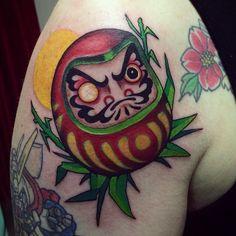 Super fun Tattoo today on @grilledtomatos #daruma #tattoo #だるま