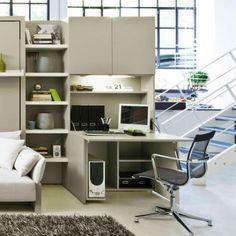 Resource Furniture: Convertible Designs for Small Spaces - figura do armario, escritorio, escrivaninha aberto