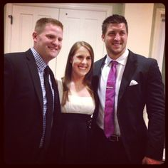 All my dreams came true! My husband and Tim Tebow! Can we say Christmas Card!?