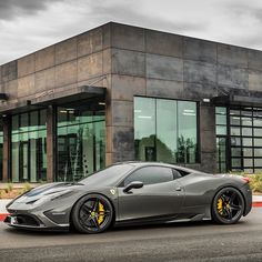 gray Ferrari 458 Speciale | by Tag Motorsports