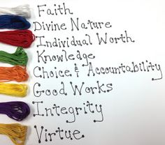 fresh juniper: DIY Young Women Value Color Bracelets