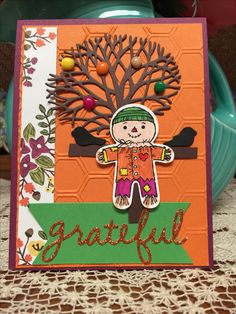 Making Thanksgiving cards with my Mom! Stampin Up!! Cookie Cutter stamp set.