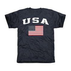 USA Flag Tri-Blend T-Shirt - Navy Blue $24.95 Size Small
