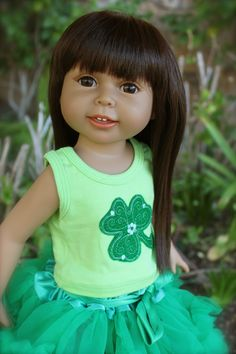 """St Patrick's Day 18"""" Doll Dresses that fit American Girl. New 18"""" Dolls. Visit our store www.harmonyclubdolls.com"""