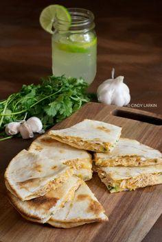 Honey Lime Chicken Quesadillas