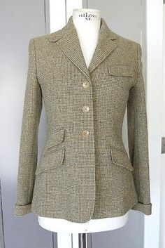 Ralph Lauren Jacket tweed English styling details Alpaca and wool 6