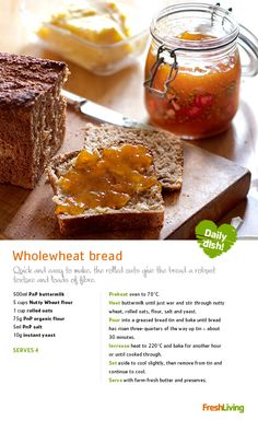 On your marks. Get set. Pair a hot-from-of-the-oven slice of homemade bread with butter and jam from our delicious Finest range - only each. Bread Recipes, Baking Recipes, Tasty Dishes, Bread Dishes, Good Food, Yummy Food, Bread Bun, Bread Baking, Food Inspiration