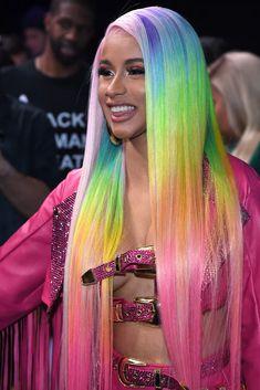 Baddie Hairstyles, Weave Hairstyles, Cardi B Hairstyles, Rainbow Hairstyles, Lace Front Wigs, Lace Wigs, Hair Colorful, Curly Hair Styles, Natural Hair Styles