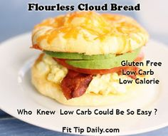 If you are looking for ways to cut down on your carbs, but still enjoy bread with your meals then this cloud bread is your answer.   The wonderful thing about this low carb recipe is that it's gluten free, low calorie, and easy!  Who would have thought you could actually make a carb …