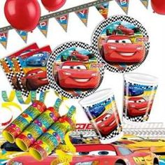 RZOnlinehandel - Partyset Cars RSN 8 Kinder - 50-teilig Party Set, Bowser, Fictional Characters, Birth, Fantasy Characters