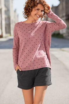 Pulli Punkte Polka Dot Top, Fairtrade, Blouse, Long Sleeve, Sleeves, Shirts, Tops, Women, Fashion