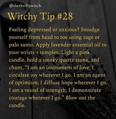 Witchy tip: depression – Candle Making Witch Spell Book, Witchcraft Spell Books, Magick Spells, Magick Book, Voodoo Spells, Healing Spells, Pagan Witchcraft, Candle Spells, Witchcraft For Beginners