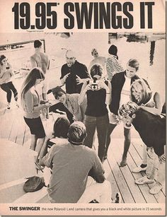 Poloroid Swinger ad   posted by Bob Karm in CLASSIC ADS , Photography , TV and have No ...