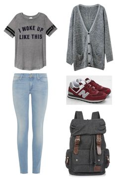"""""""Untitled #18"""" by tvj19 ❤ liked on Polyvore featuring Victoria's Secret PINK, 7 For All Mankind, Chicnova Fashion and New Balance"""