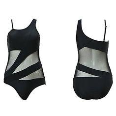 HONFON Femme Maillot de Bain 1 Pièce Elegant Amincissant Bikini Sexy Body  Guide Tankini Transparent  247a74c13c4