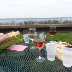 Fox Run Vineyards - Deck overlooking Seneca Lake at Fox Run - Penn Yan, NY, United States
