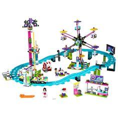 LEGO Friends - Montagne russe in parcul de distractii (41130), jucarii LEGO Friends ieftine de Craciun