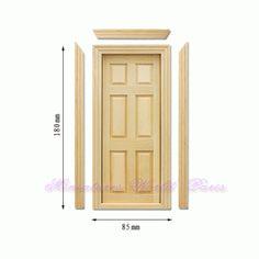 Dveře plné do domečku pro panenky