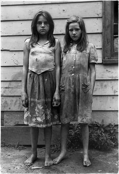 William Gale Gedney     Two Girls with Dirty Clothes Holding Hands, Kentucky      1964
