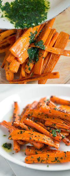 Roasted carrots with parsley butter on inspiredtaste.net / @inspiredtaste