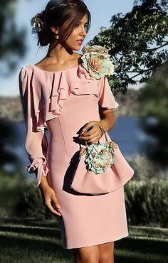 VESTIDOS PARA MADRES DE COMUNIÓN Dress Skirt, Peplum Dress, Dress Up, Short Dresses, Summer Dresses, Formal Dresses, Groom Dress, Occasion Dresses, Dress Patterns