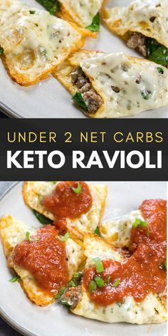 This easy four ingredient Keto Ravioli is loaded with sausage and spinach and only has net carbs per serving! This easy four ingredient Keto Ravioli is loaded with sausage and spinach and only has net carbs per serving! Ketogenic Recipes, Low Carb Recipes, Soup Recipes, Diet Recipes, Cooking Recipes, Healthy Recipes, Ketogenic Diet, Avocado Recipes, Dessert Recipes