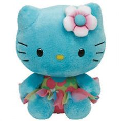 TY Hello Kitty Turquoise Plush Toy