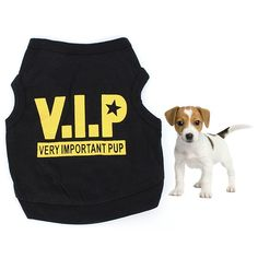 Dog Black Cotton Blend T-Shirt VIP //Price: $5.00 & FREE Shipping //     #gifts