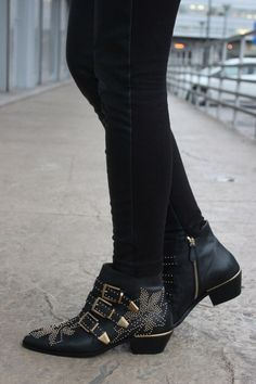 Shoe lust = Chloe Susanna studded leather ankle boots