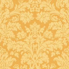 The Wallpaper Company - 20.5 In. W Yellow Contemporary Damask Wallpaper - WC1280358 - Home BATHROOM