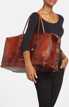Emmaline Bags: Sewing Patterns and Purse Supplies: Handmade Couture: Make this look - A Brahmin Duxbury Leather Travel Bag Brahmin Handbags, Brahmin Bags, Purses And Handbags, Leather Handbags, Leather Bag, Beautiful Handbags, Beautiful Bags, Fashion Handbags, Fashion Bags