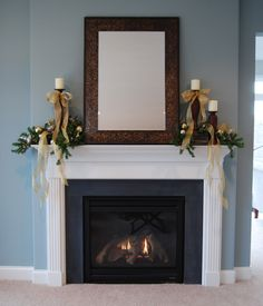 Holiday Mantel Decorating Ideas - Spring Hill