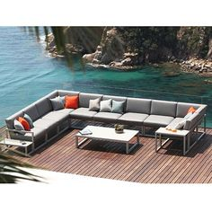 The Ninix Sectional Sofa Is Perfect For The Patio, Deck Or Outdoor Room.