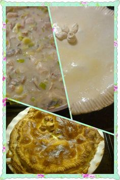My homemade chicken, leek, mushroom and bacon pie. #yum #pie