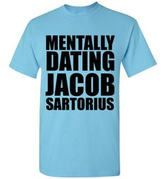 Mentally Dating Jacob Sartorius I Don't Care T-Shirt by Tshirt Unicorn. Each shirt is made to order using digital printing in the USA. Allow 3-5 days to print the order and get it shipped. This comfy