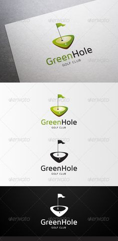 GreenHole Golf Club Logo — Vector EPS #golf #athlethics • Available here → https://graphicriver.net/item/greenhole-golf-club-logo/4597322?ref=pxcr