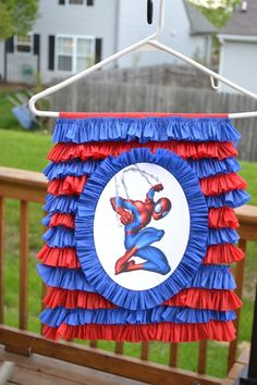 A pinata made from a paper grocery bag. I love how easy and non-messy this is.