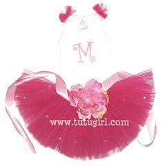 Red Tutu Outfit | Garnet Birthday Clothing for Toddler Girls