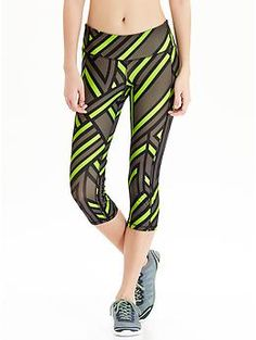 "Women's Old Navy Active Patterned Compression Capris (20"") 