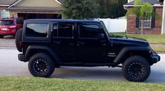 Our lifted 2013 Jeep Wrangler Unlimited with 33s! ❤️it! I am a Jeep girl!