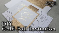 New Wedding Invitations Diy Gold Belly Bands Ideas Make Your Own Wedding Invitations, Budget Wedding Invitations, Diy Invitations, Invites, Wedding Stationery, Wedding Planner, Wedding Images, Wedding Cards, Diy Wedding