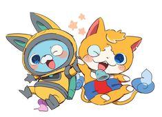 Youkai Watch, Cute Pokemon, Kawaii Anime, Cute Art, Art Inspo, Pikachu, Video Games, Fan Art, Cartoons