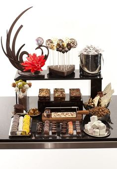Mini chocolate display for events at Trump® Toronto.
