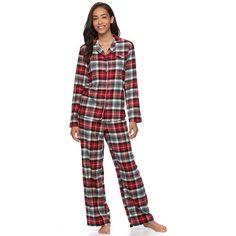 Women's Star & Skye Pajamas: Flannel Notch PJ Set | Christmas List ...