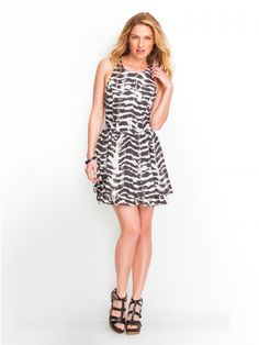 GUESS Abstract Dye Sleeveless Tiered Dress